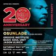 Solid Garage 20 Yr Encore Party w/ Osunlade