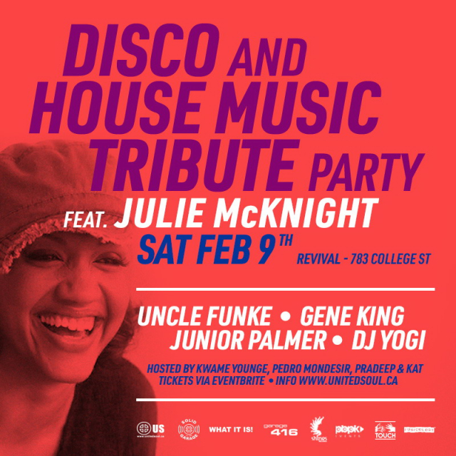 Disco & House Tribute Party w/ Julie McKnight Live
