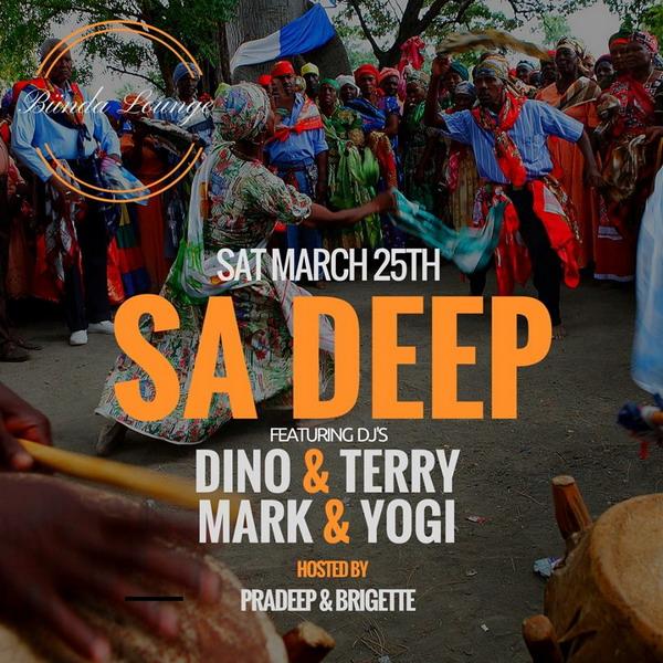 SA Deep Party w/ Dino & Terry + Mark & Yogi (Sat March 25th)