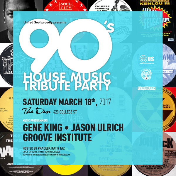 The 90's House Music Tribute Party (Sat March 18th)