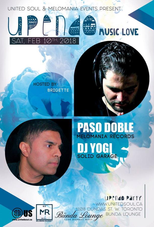 Upendo Party w/ Paso Doble & DJ Yogi
