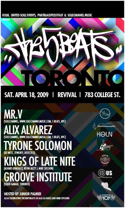 5 Beats Party Toronto