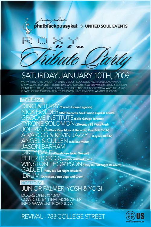 Roxy Blu Tribute Party