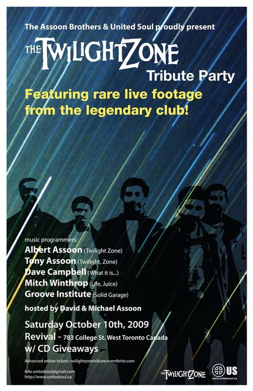 Twilight Zone Tribute Party Poster